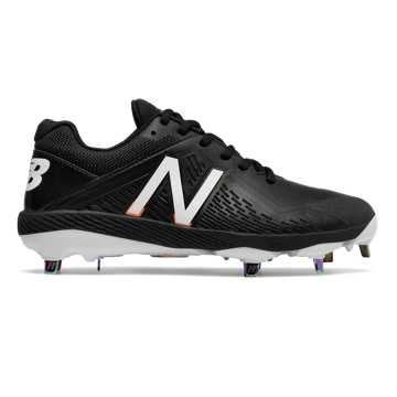 New Balance Low-Cut Fuse1 Metal Cleat, Black with White