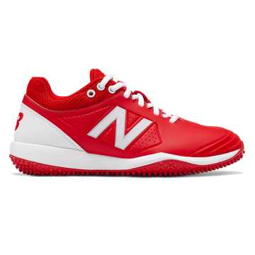 New Balance Fusev2 Turf, Red with White