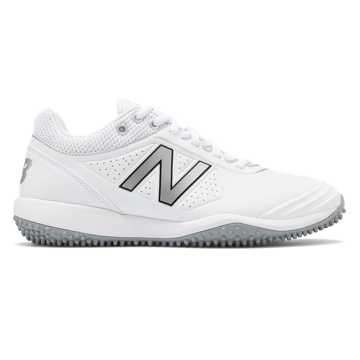 New Balance Fusev2 Turf, White with Silver