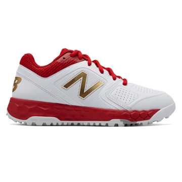 New Balance Fresh Foam Turf Velo1, Red with White