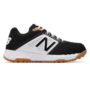 New Balance 3000v4 Turf, Black with White