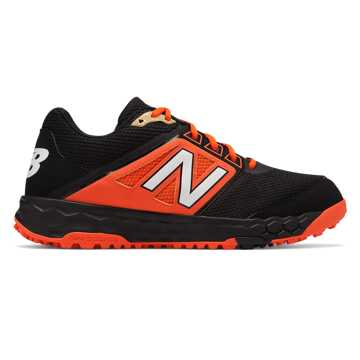 New Balance Fresh Foam 3000v4 Turf, Black with Orange
