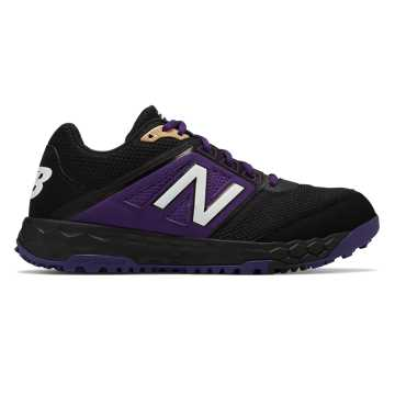 New Balance Fresh Foam 3000v4 Turf, Black with Purple