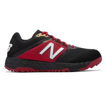 New Balance Fresh Foam 3000v4 Turf, Black with Red