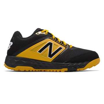 New Balance Fresh Foam 3000v4 Turf, Black with Yellow