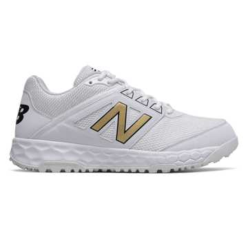 New Balance Fresh Foam 3000v4 Turf, White with Gold