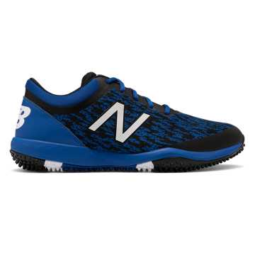 New Balance 4040v5 Turf, Black with Royal Blue