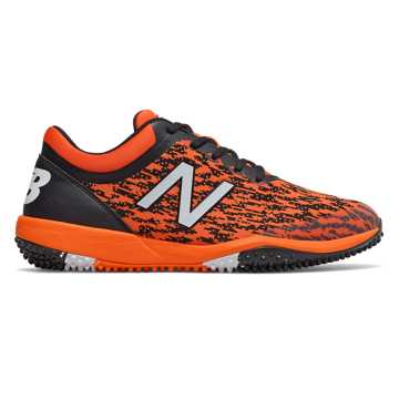 New Balance 4040v5 Turf, Black with Orange
