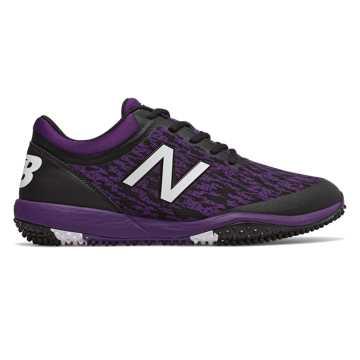 New Balance 4040v5 Turf, Black with Purple