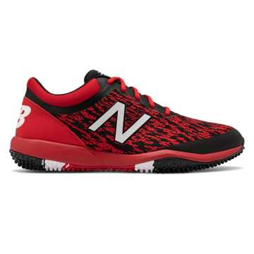 New Balance 4040v5 Turf, Black with Red