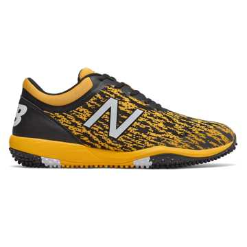 New Balance 4040v5 Turf, Black with Yellow