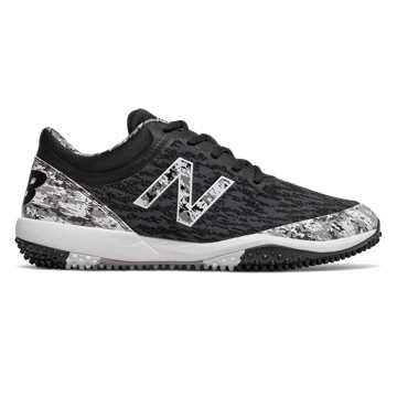 New Balance 4040v5 Pedroia Turf, Black Camo with White