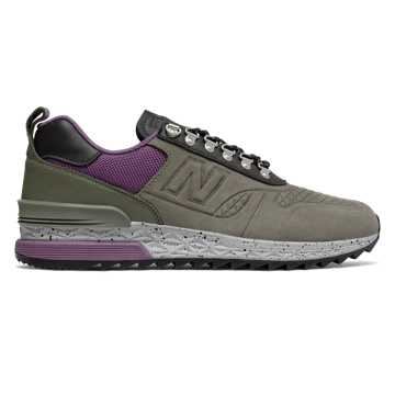 New Balance Trailbuster Nubuck, Military Green with Purple