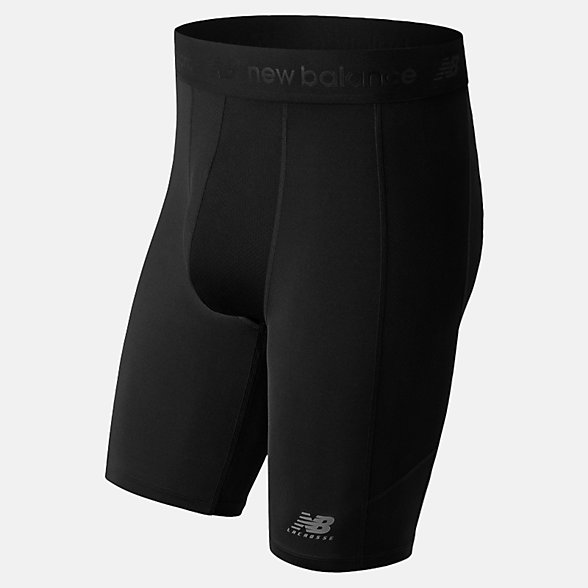 New Balance Lacrosse Compression Short with Cup, TMMS751BK