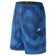 New Balance Short à motif de crosse, Royal d'équipe