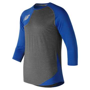 New Balance Baseball Asym Base Layer Right, Team Royal with Heather Grey