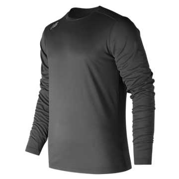 New Balance LS Tech Baseball Tee, Team Black