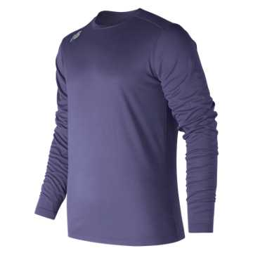 New Balance LS Tech Baseball Tee, Team Navy