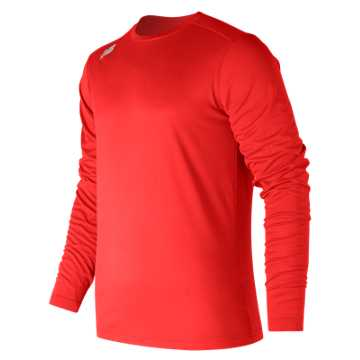 New Balance LS Tech Baseball Tee, Team Red
