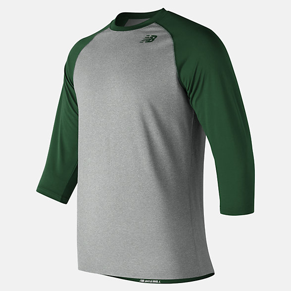 New Balance 3/4 Baseball Raglan Top, TMMT601TDG