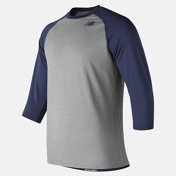 New Balance 3/4 Baseball Raglan Top, TMMT601TNV