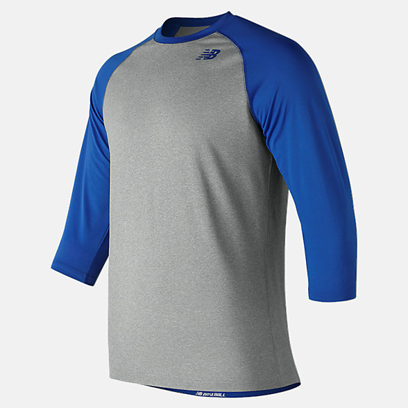 New Balance 3/4 Baseball Raglan Top, TMMT601TRY