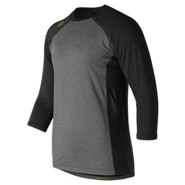 New Balance 3/4 Sleeve 4040 Bold and Gold Compression Top, Black