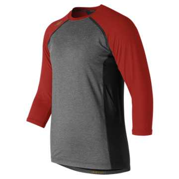 New Balance 3/4 Sleeve 4040 Compression Top, Sedona Red