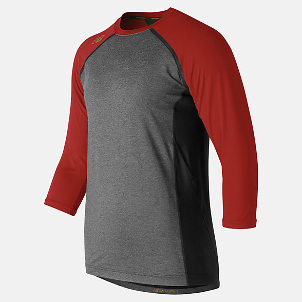 New Balance 3/4 Sleeve 4040 Compression Top, TMMT650SDR