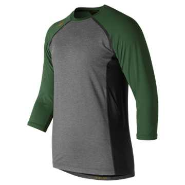 New Balance 3/4 Sleeve 4040 Compression Top, Team Dark Green