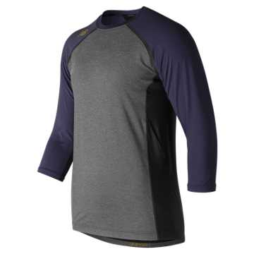 New Balance 3/4 Sleeve 4040 Compression Top, Team Navy