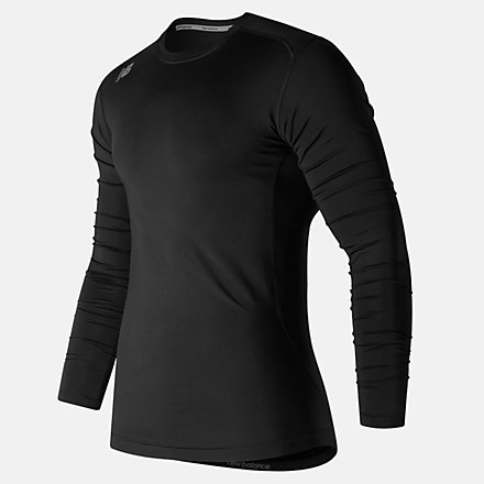 New Balance NB LS Compression Top, TMMT708TBK image number null
