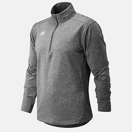 New Balance Lightweight Solid Half Zip, TMMT710MHG image number null