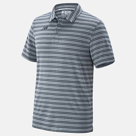New Balance Stripe Polo, TMMT724TBK image number null