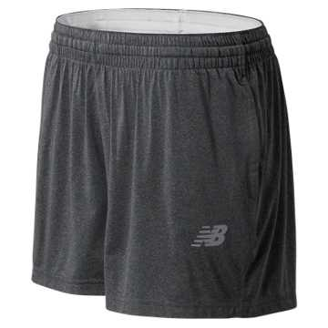 New Balance NB Tech Short, Dark Heather Grey