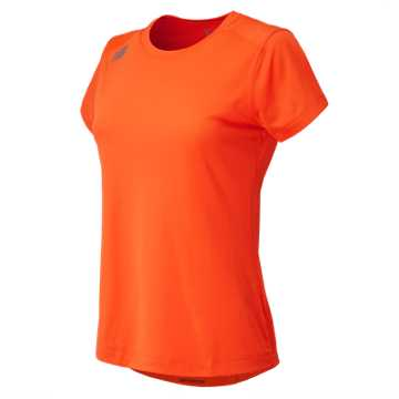 New Balance NB Short Sleeve Tech Tee, Team Orange