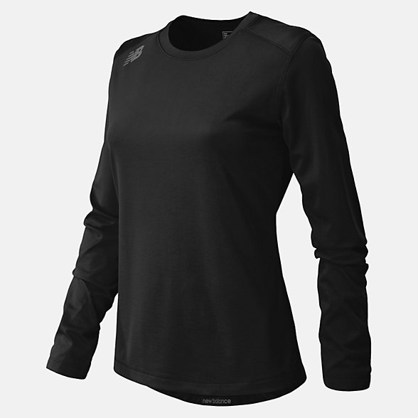 New Balance NB Long Sleeve Tech Tee, TMWT501TBK
