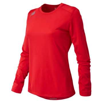 New Balance NB Long Sleeve Tech Tee, Team Red
