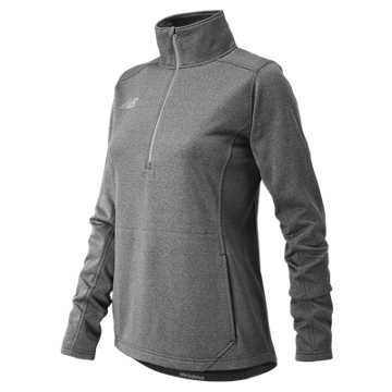 New Balance NB Half Zip, Dark Heather Grey