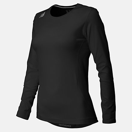 New Balance NB Long Sleeve Compression Top, TMWT708TBK image number null