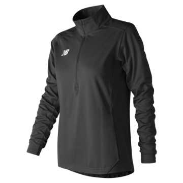 New Balance Lightweight Solid Half Zip, Team Black