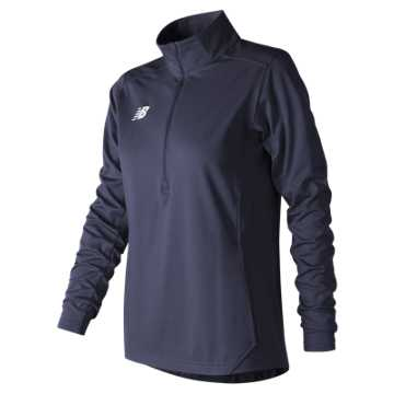 New Balance Lightweight Solid Half Zip, Team Navy
