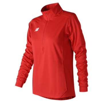 New Balance Lightweight Solid Half Zip, Team Red