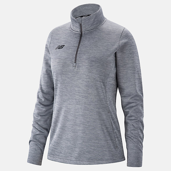 New Balance Womens Thermal Half Zip, TMWT725MHG
