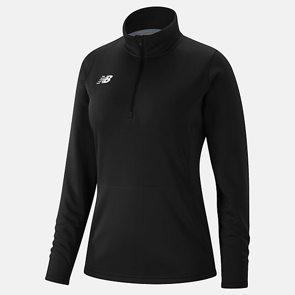 New Balance Womens Thermal Half Zip, TMWT725TBK
