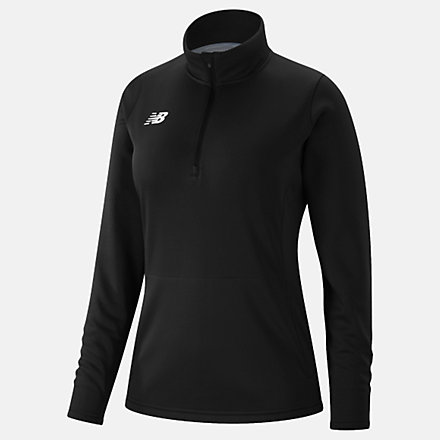 New Balance Womens Thermal Half Zip, TMWT725TBK image number null
