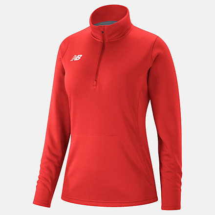 New Balance Womens Thermal Half Zip, TMWT725TRE image number null