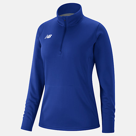 New Balance Womens Thermal Half Zip, TMWT725TRY image number null