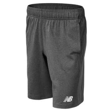 New Balance Jr NB Tech Short, Dark Heather Grey