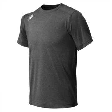 New Balance Jr NB SS Tech Tee, Dark Heather Grey
